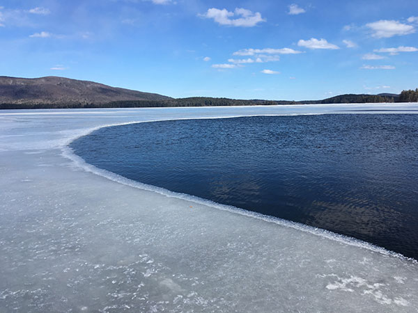 Squam Lake April - Melting Ice on a beautiful day
